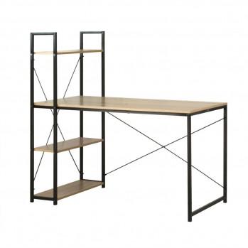 Bureau L120cm avec 4 étagères style industriel