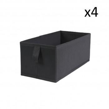 Lot de 4 tiroirs pliables intissés 28x14x11cm