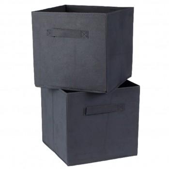 Cube de rangement intissé 28x28cm - Lot de 2