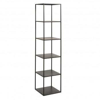 Étagère 6 niveaux métal noir H180,5 cm