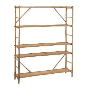 Etagère 5 niveaux bambou naturel