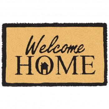 Paillasson marron motif Welcome Home