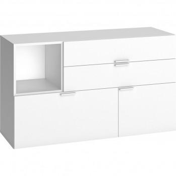 Commode design 3 tiroirs et 1 porte L120 cm - 4YOU