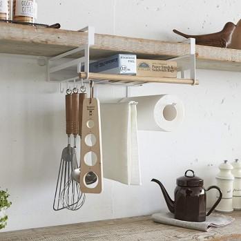 Porte ustensiles sous étagère de cuisine multifonction