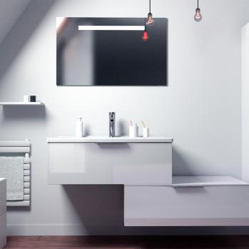 Meuble simple vasque OLENA 1 tiroir L90 cm - Fabrication française