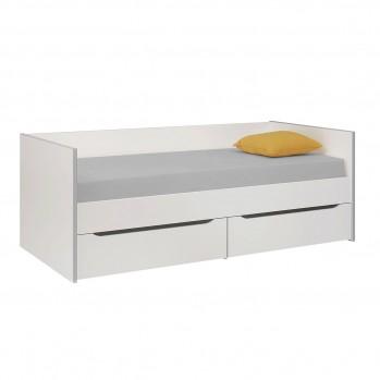 Lit Banquette 2 tiroirs avec Casiers Babel 90x200 - Fabrication Française
