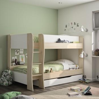 Lits superposés Roomy avec tiroir  90x200 - Fabrication Française