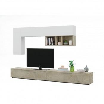 Meuble TV 2 portes L260cm et étagère murale  L210 cm