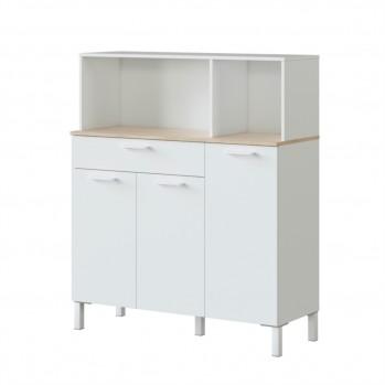 Buffet de cuisine 3 portes et 1 tiroir L108 x H126 cm