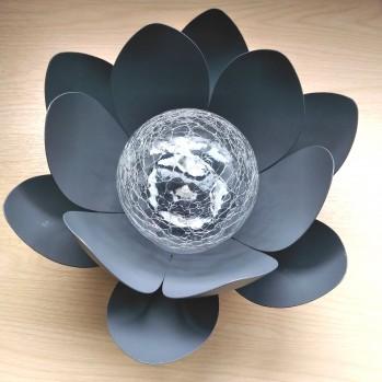 Lampe à LED solaire design nénuphar