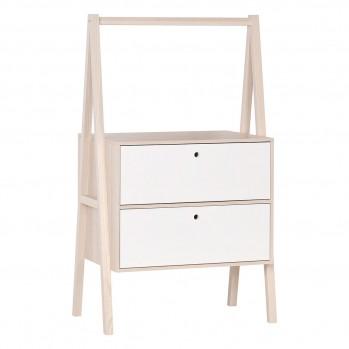 Commode 2 tiroirs blanc - Spot