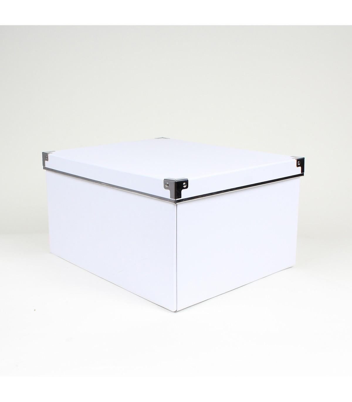 Boite De Rangement Carton Blanc Armature Metal Boites Sosmart