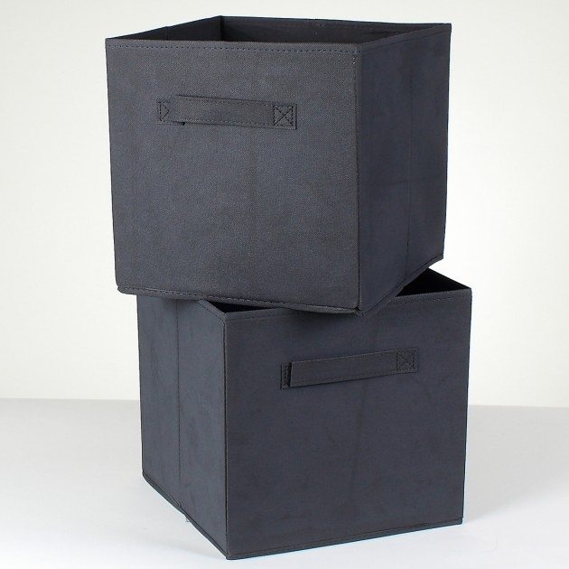 Lot de 2 cubes de rangement intissé 27 cm