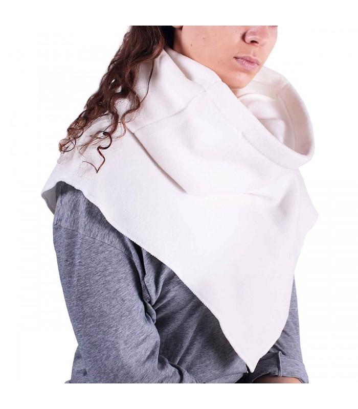 Châle capuche tour de cou 2 en 1 - Coloris blanc