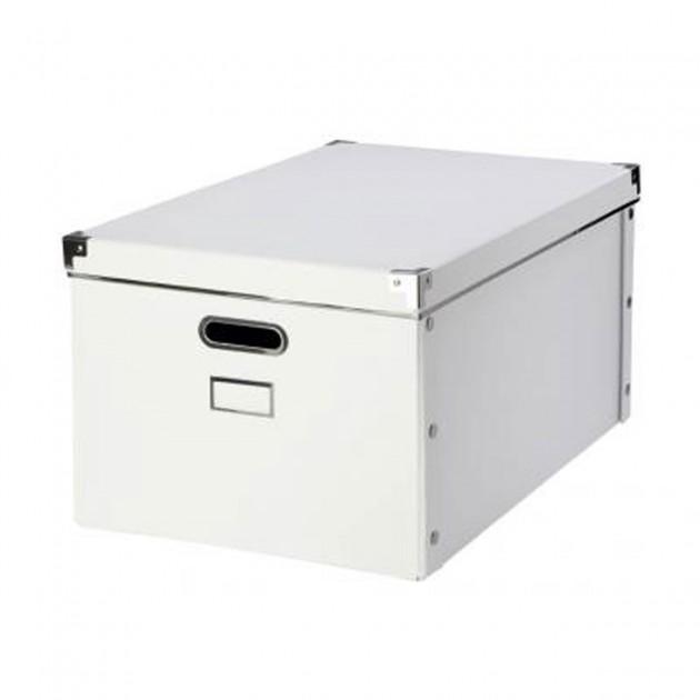 Boite en carton blanche avec armature en métal
