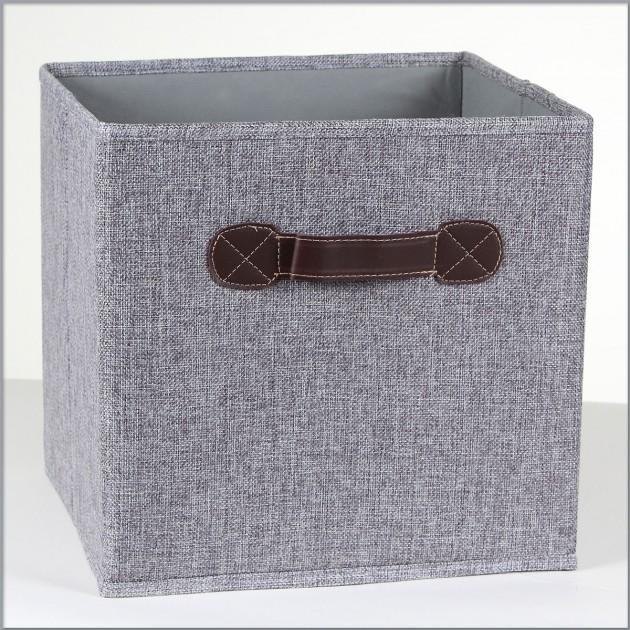 Lot de 2 rangements cubes pliables en linen