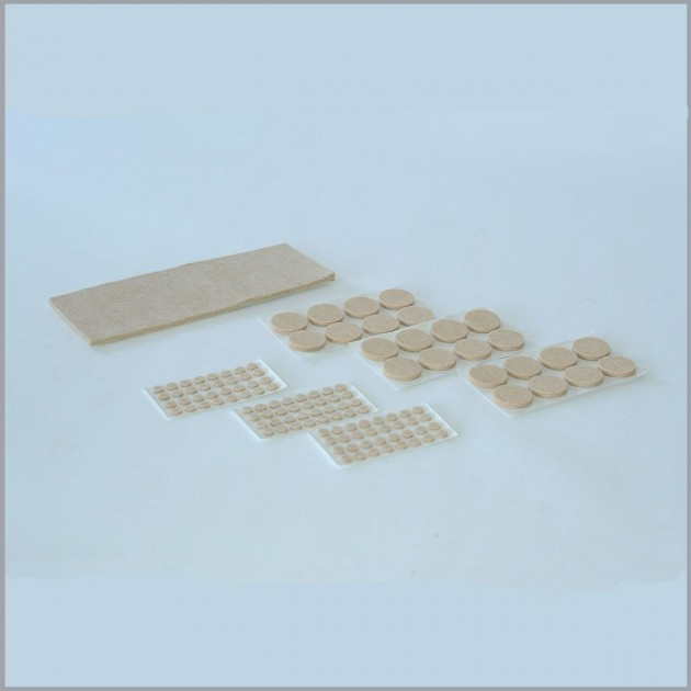 Protections pour meuble en feutre autocollants - lot de 121