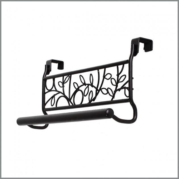 Barre porte torchons décor feuilles
