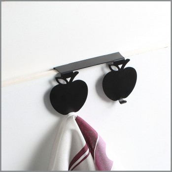 Crochets  porte torchons double décor pomme