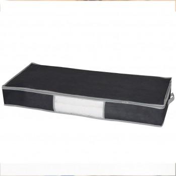 Housse de rangement dessous de lit gris foncé 107 x 46 x 15 cm