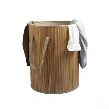 Panier à linge pliable en bambou