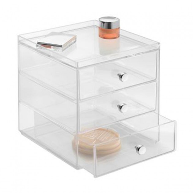 Boite de rangement pour cosmétiques 3 tiroirs