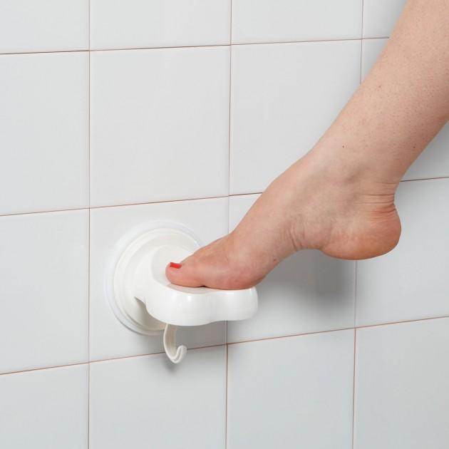 Repose pied de douche à ventouse