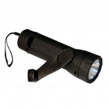 Lampe torche LED à manivelle rechargeable en USB