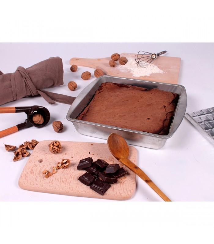 Moule à gâteaux carré en fer blanc