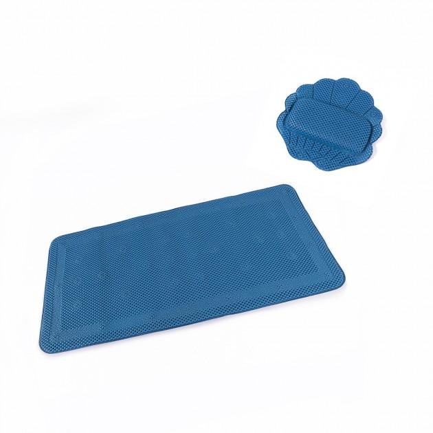 Repose tête + tapis de bain anti-glisse mousse confort