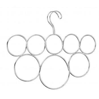 Cintre porte-écharpes 8 anneaux Interdesign Clarity