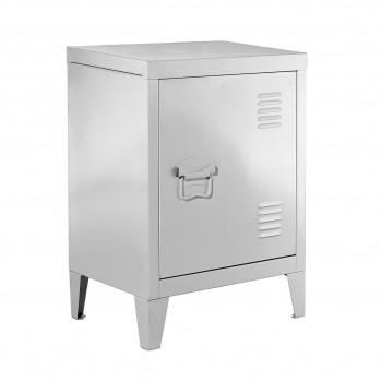 Petite armoire en métal blanche