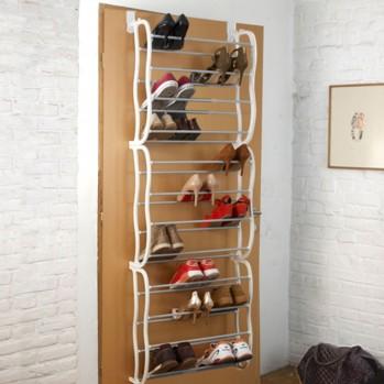 Étagère à chaussures sur porte 36 paires
