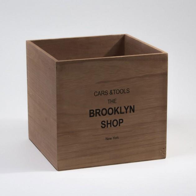 Cube en bois Brooklyn