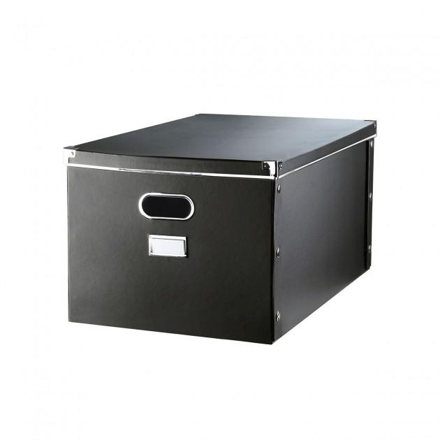 Boite de rangement carton avec armature métal