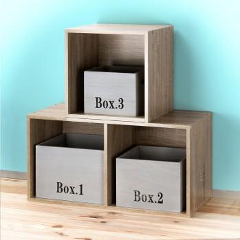 Cubes empilable en bois pour meuble à cases (vendu par 3)