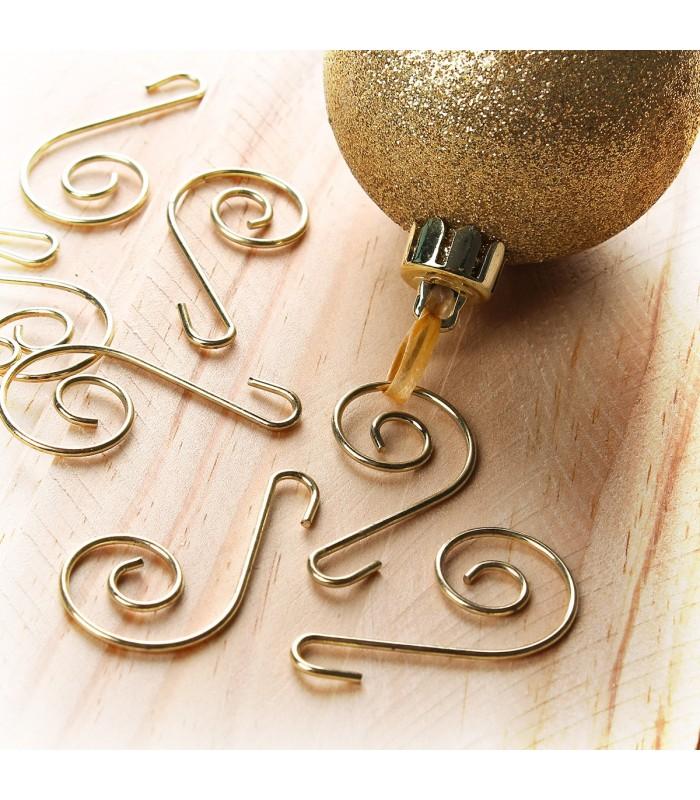 15 crochets dorés pour sapin
