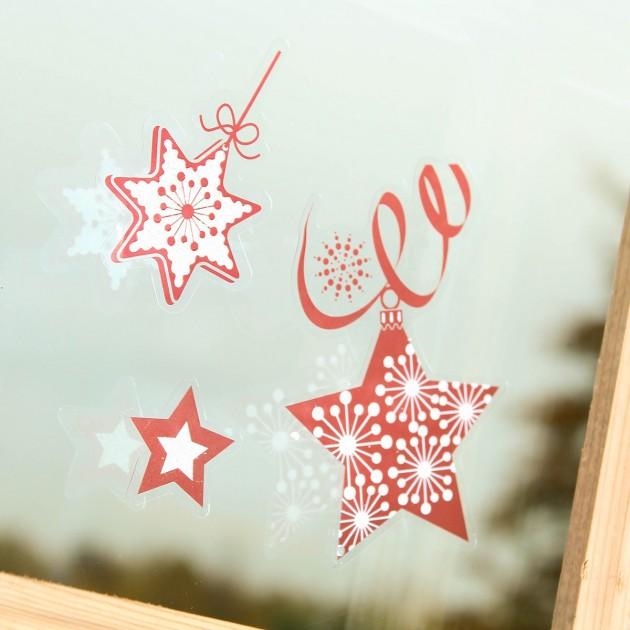 Décorations Noël électrostatiques 4 planches