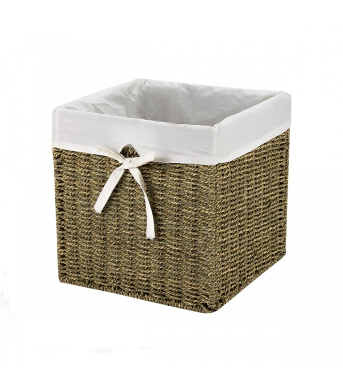 cube de rangement en jonc de mer cubes. Black Bedroom Furniture Sets. Home Design Ideas