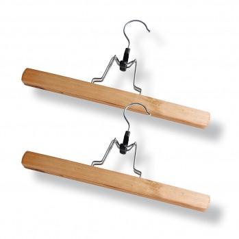 Cintre porte pantalon en bois - lot de 2