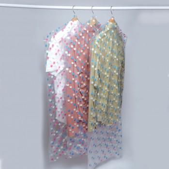 Housse vêtement anti-mites motif pois - lot de 10