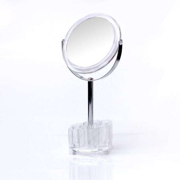 Miroir double face sur pied avec rangement