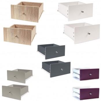 Lot de 2 tiroirs pour meuble à case + rails coulissants