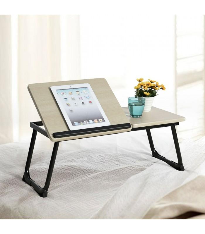 table de lit beige pour tablette - Table De Lit