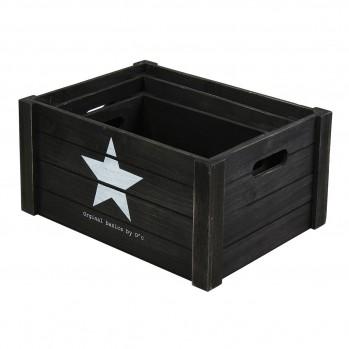 Lot de 3 cubes en bois empilables avec poignées motif étoile