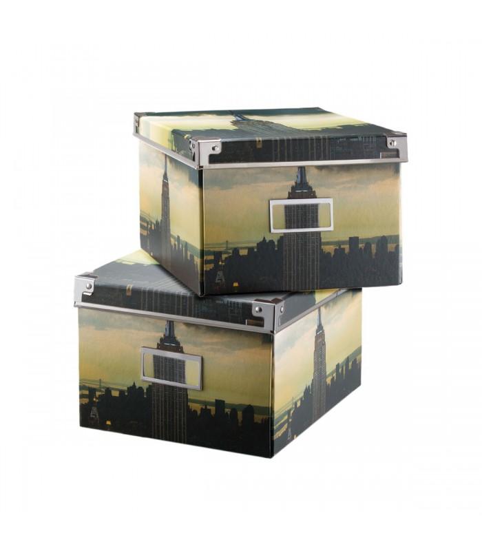 Rangement De 2 Décor En Lot Carton Boite Brooklyn OPNnX8wk0Z