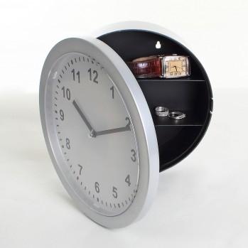 Horloge murale gris argent