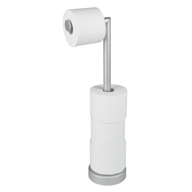 Porte papier toilette argenté