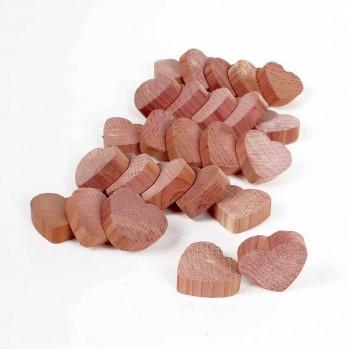 Coeurs en bois de cèdre anti-mites - lot de 25