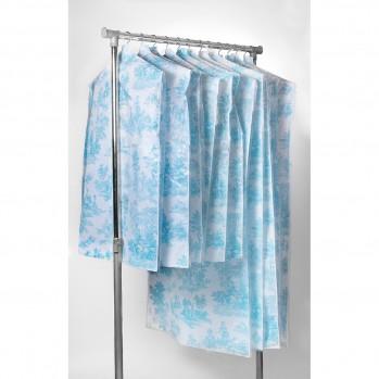 Housses de vêtement toile de jouy bleu - Lot de 12